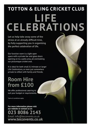 Totton & Eling Cricket Club Events - Life Celebrations