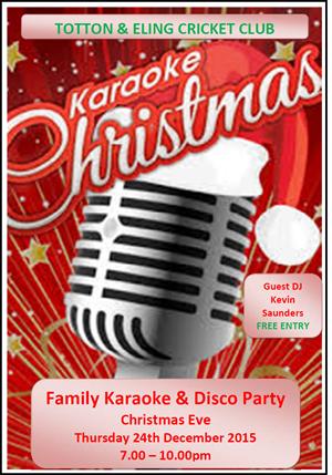 Christmas Eve Karaoke Disco 2015