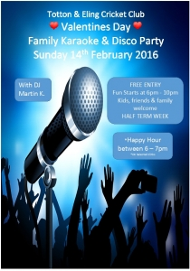 Family Karaoke/Disco Party @ Totton & Eling Cricket Club | Totton | United Kingdom
