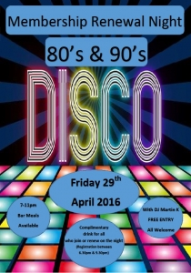 Membership Renewal Night - 80's & 90's Disco @ Totton & Eling Cricket Club | Totton | United Kingdom