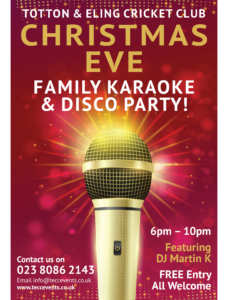 Christmas Eve Karaoke Party Totton Amp Eling Cricket Club