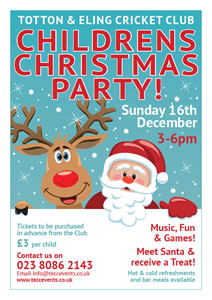 Totton & Eling CC Childrens Xmas Party Page Poster
