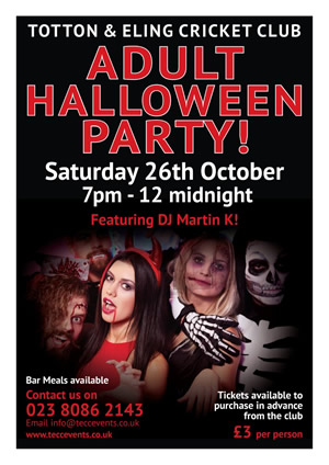 Totton & Eling CC - Adult Halloween Poster