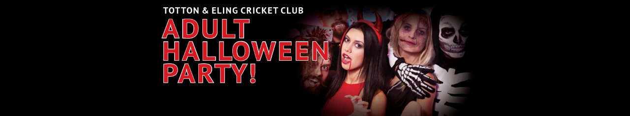 Totton & Eling CC - Adult Halloween Banner