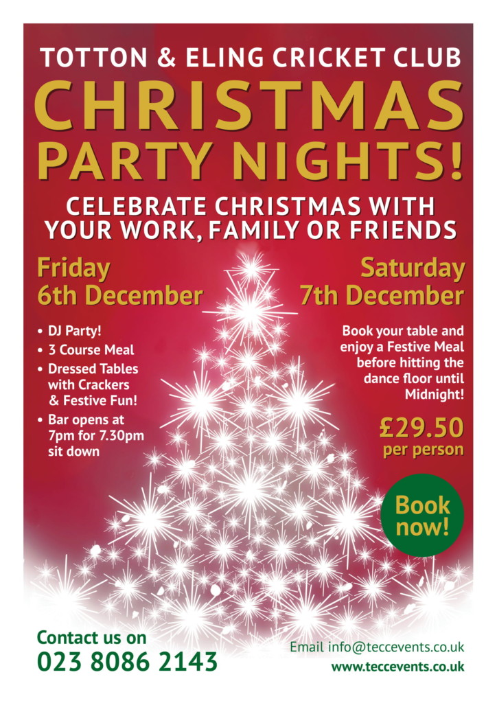 Christmas Party Nights at Totton & Eling CC Events