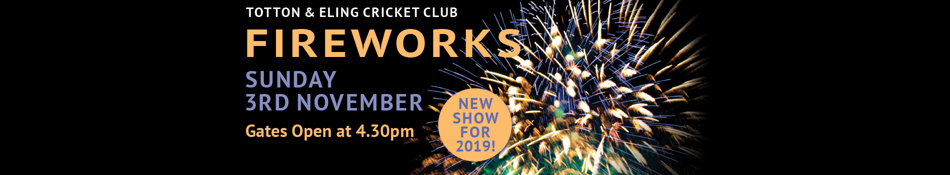 Fireworks at Totton & Eling CC Events