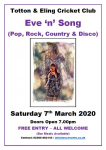 Totton & Eling CC Events - Eve n Song